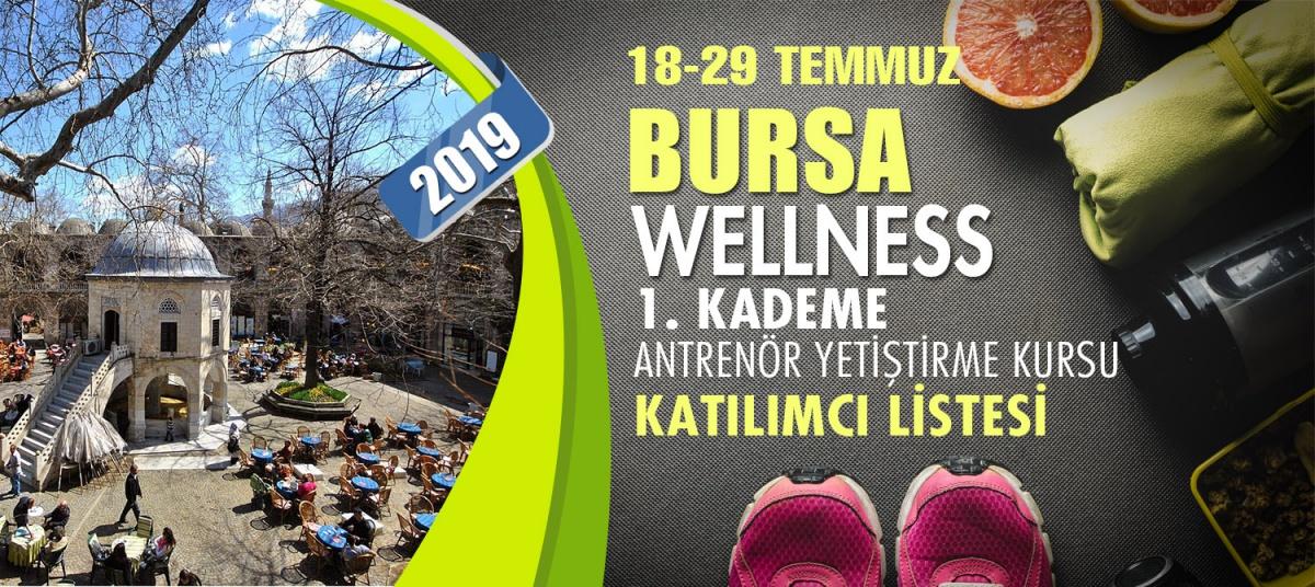 18-29 TEMMUZ 2019 BURSA WELLNESS 1. KADEME YARDIMCI ANTRENÖRLÜK KURSU KATILIMCI LİSTESİ