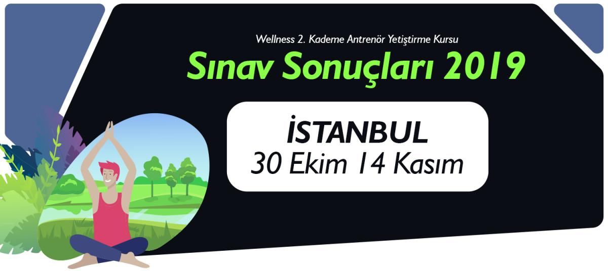 30 EKİM 14 KASIM KASIM 2019 TARİHLERİ ARASINDA İSTANBUL'DA AÇILAN 2. KADEME WELLNESS ANTRENÖR YETİŞTİRME KURSU SINAV SONUÇLARI