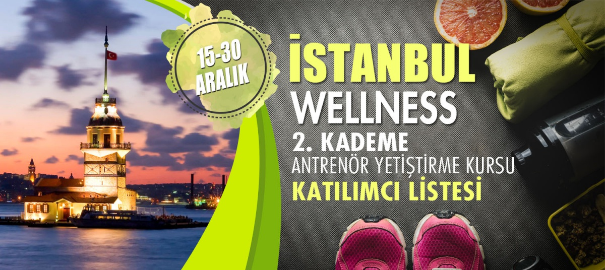 15-30 ARALIK 2018 İSTANBUL WELLNESS 2. KADEME ANTRENÖRLÜK KURSU KATILIMCI LİSTESİ